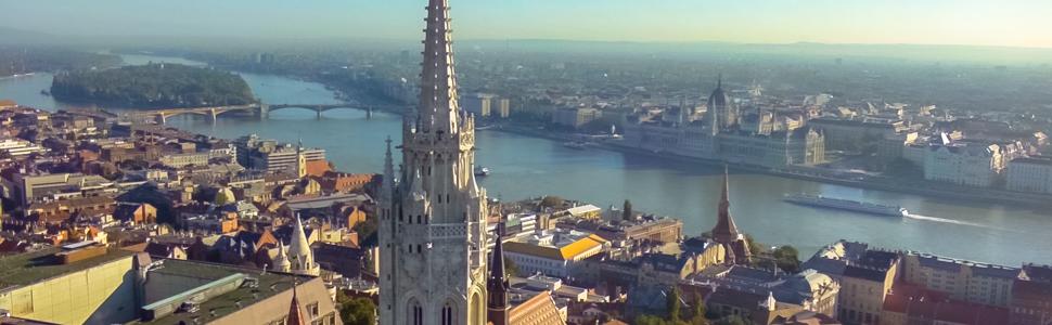 Mátyás templom dunai panorámával